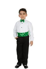 Erkek Yeşil Dans Kostümü