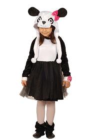 Panda Kız Kostümü